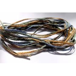 lacet coton bleu degradé
