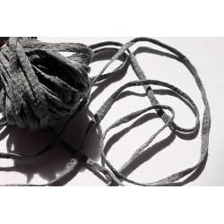 lacet coton gris