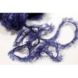 laine fantaisie fourrure Boah bleue