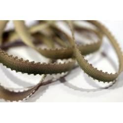 ruban picot Antique / vert tendre